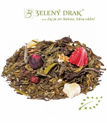 KRÁSKA A ZVÍŘE BIO - zelený čaj