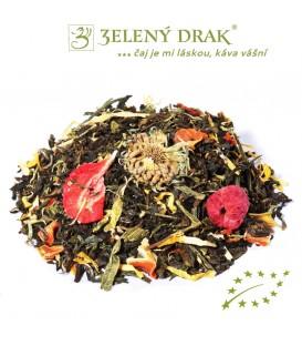 BÍLÁ PLÁŽ BIO - zelený ochucený čaj