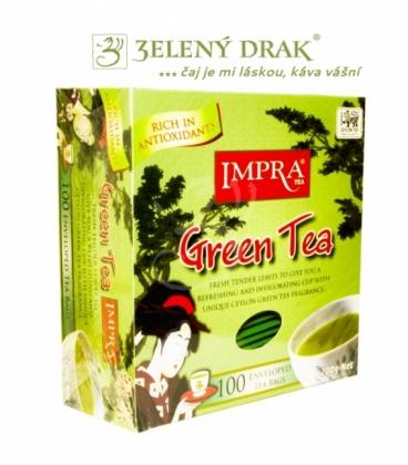 IMPRA PORCOVANÝ ČAJ GUN POWDER 100 KS – pravý zelený čaj