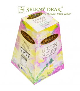 GREEN RELIEF – zelený porcovaný čaj vpyramidových sáčcích s bylinkama